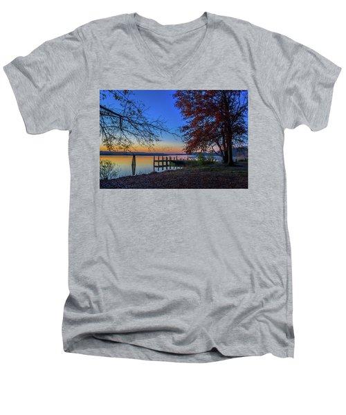 Sunrise On The Patuxent Men's V-Neck T-Shirt