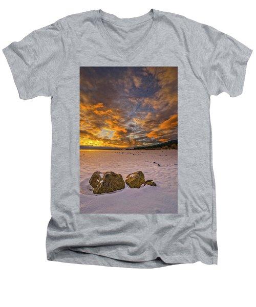 Sunrise Rocks Men's V-Neck T-Shirt