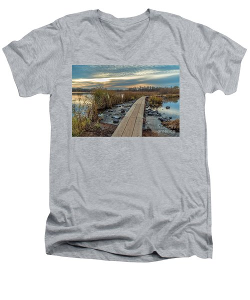 Sunset At Purgatory Creek Men's V-Neck T-Shirt