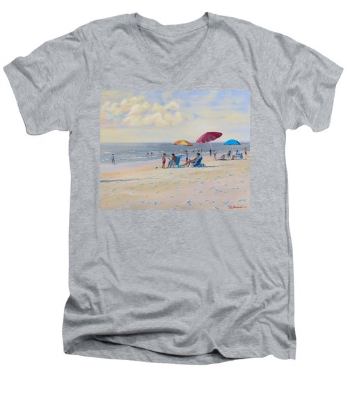 Sunset Beach Observers Men's V-Neck T-Shirt