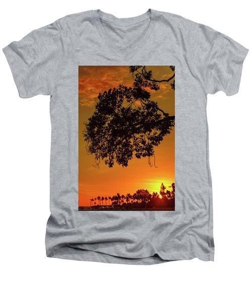 Sunset By The Pier Men's V-Neck T-Shirt