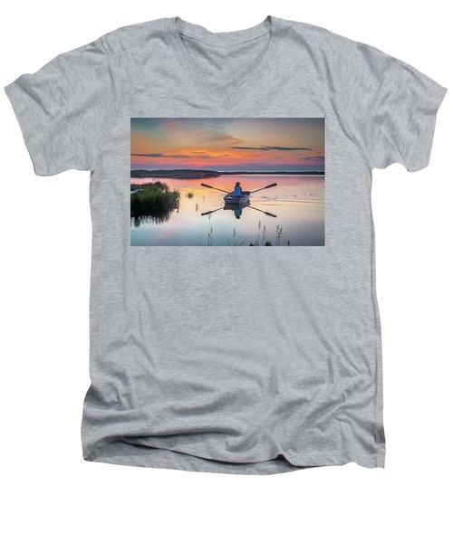 Sunset  Crossing Men's V-Neck T-Shirt