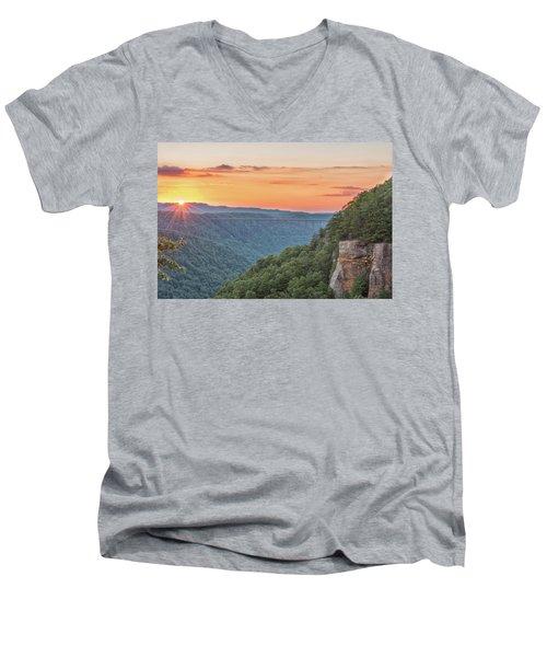 Sunset Flare Men's V-Neck T-Shirt