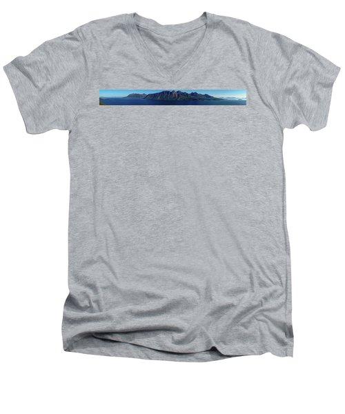 Sunset In Norway In Lofoten Island Men's V-Neck T-Shirt