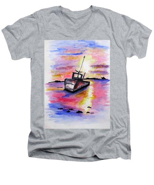 Sunset Rest Men's V-Neck T-Shirt
