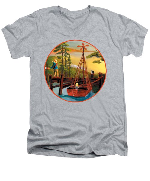Super Boat Overlay Men's V-Neck T-Shirt
