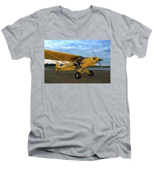 Super Cub At Daybreak Men's V-Neck T-Shirt