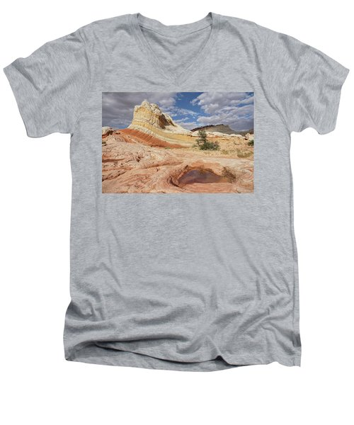 Sweeping Structures In Sandstone Men's V-Neck T-Shirt