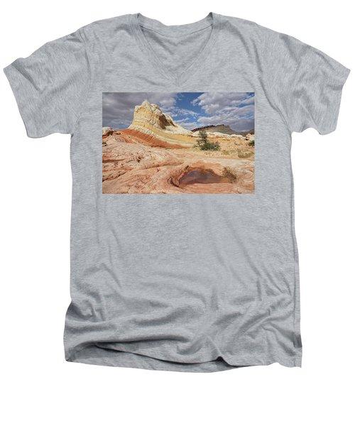 Sweeping Structures In Sandstone Men's V-Neck T-Shirt