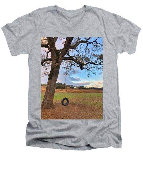 Swing In Tree Men's V-Neck T-Shirt