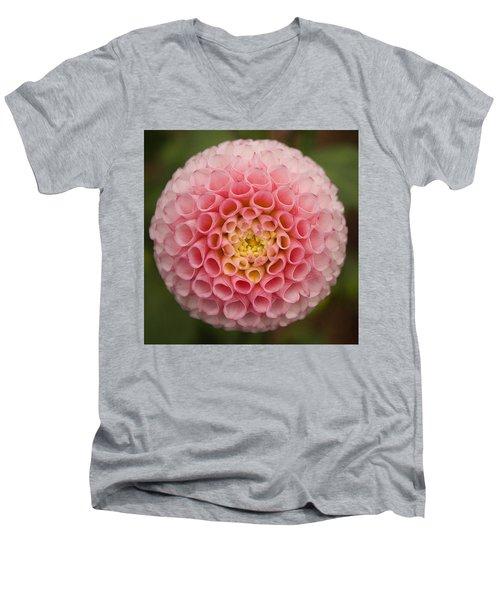 Symmetrical Dahlia Men's V-Neck T-Shirt
