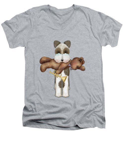 T Is For Terrier And Teddy Men's V-Neck T-Shirt