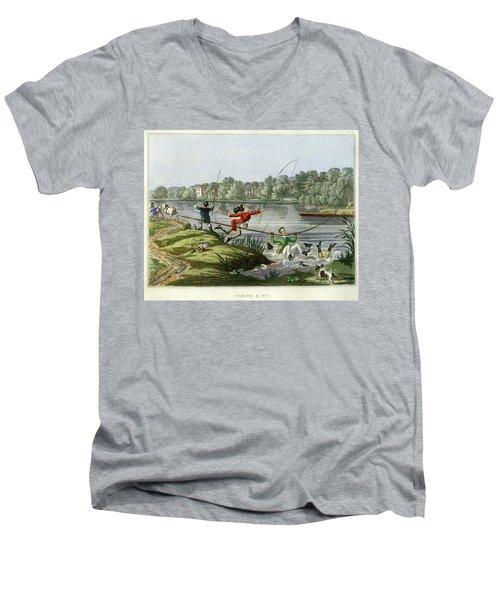 Taking A Fly Men's V-Neck T-Shirt