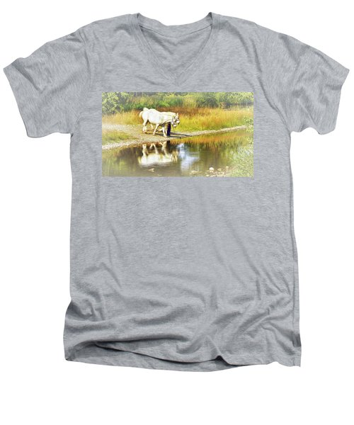 Leading The Horses To Water Men's V-Neck T-Shirt
