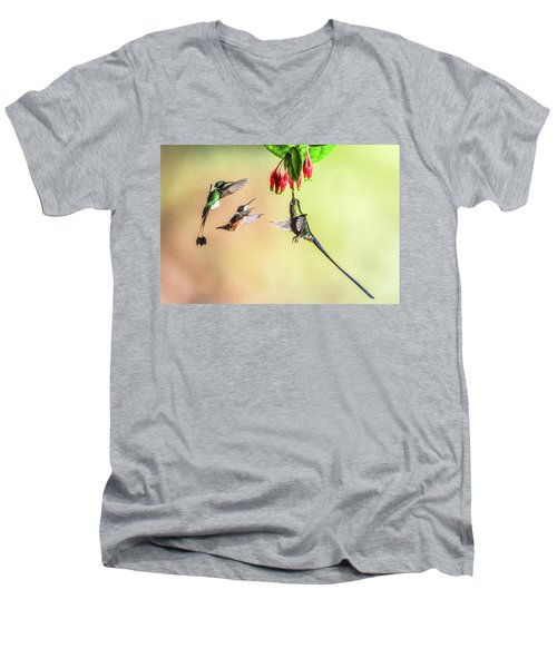 Taking Turns Men's V-Neck T-Shirt