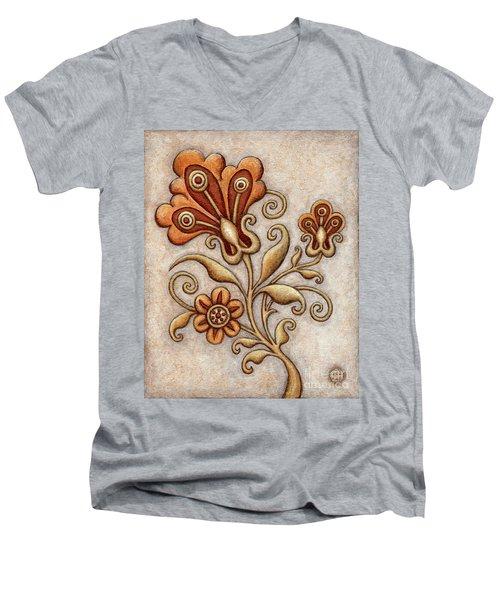 Tapestry Flower 3 Men's V-Neck T-Shirt