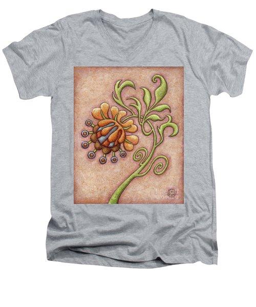 Tapestry Flower 10 Men's V-Neck T-Shirt