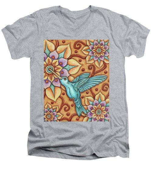 Tapestry Hummingbird Men's V-Neck T-Shirt