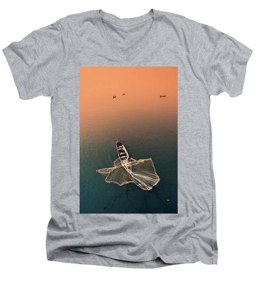 Taungthaman Lake Men's V-Neck T-Shirt