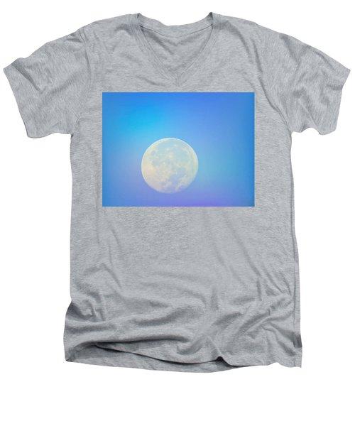 Taurus Almost Full Moon Blend Men's V-Neck T-Shirt