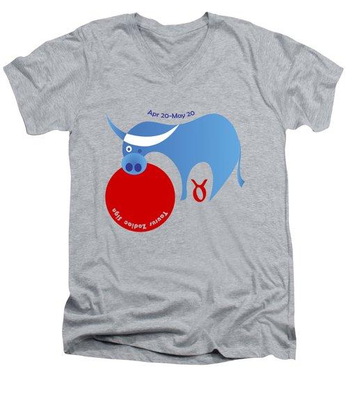 Taurus -  Bull Men's V-Neck T-Shirt