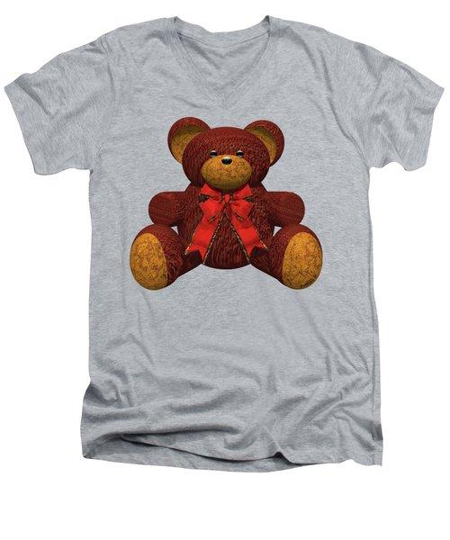 Teddy Bear Men's V-Neck T-Shirt