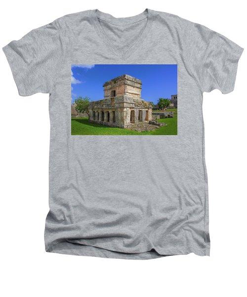 Temple Of The Frescoes Men's V-Neck T-Shirt