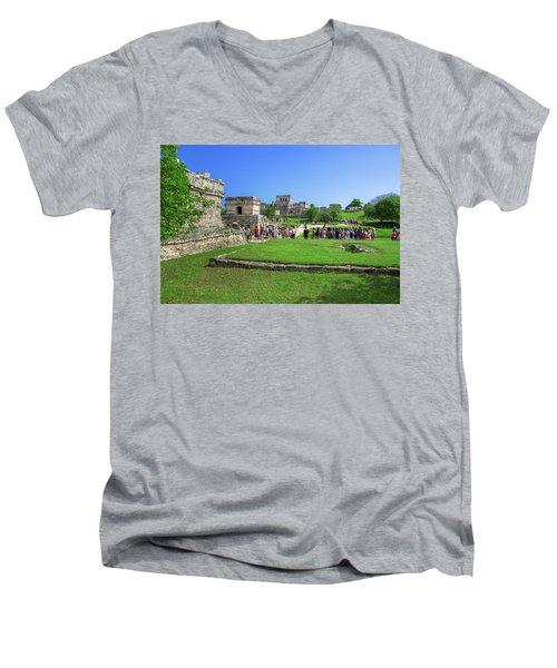 Temples Of Tulum Men's V-Neck T-Shirt