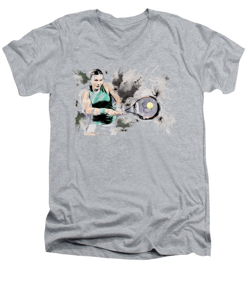 Tennis Anyone? Men's V-Neck T-Shirt