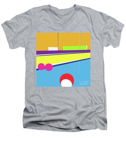 Tennis In Abstraction Men's V-Neck T-Shirt