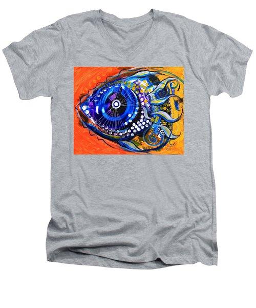 Tenured Acrimonious Fish Men's V-Neck T-Shirt