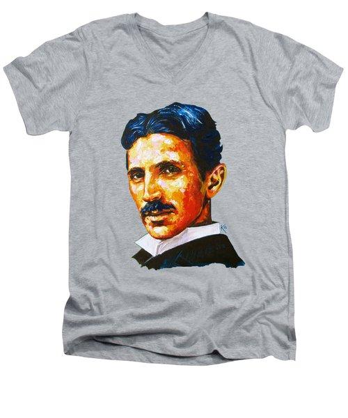 Tesla - Pure Genius Men's V-Neck T-Shirt