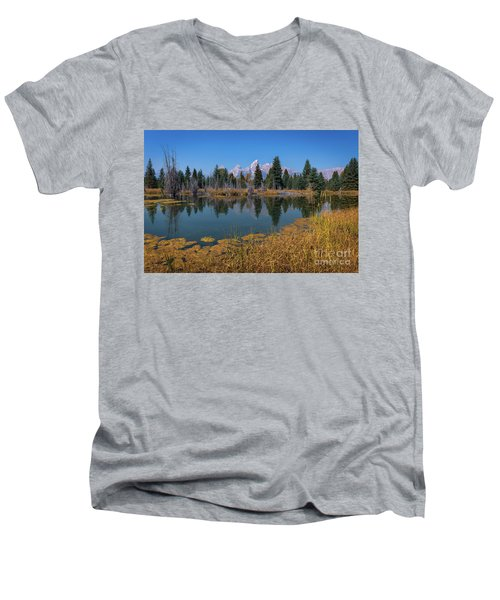 Tetons Majesty Men's V-Neck T-Shirt
