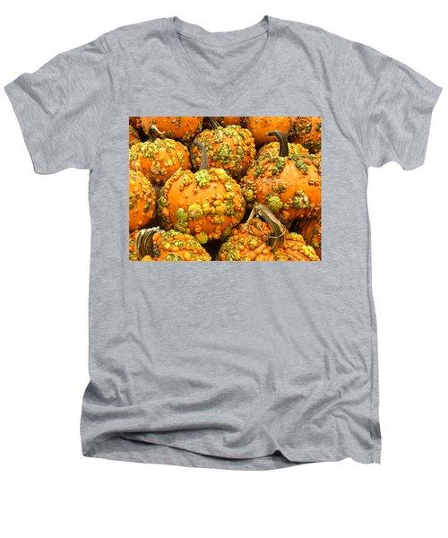 Textured Pumpkins  Men's V-Neck T-Shirt