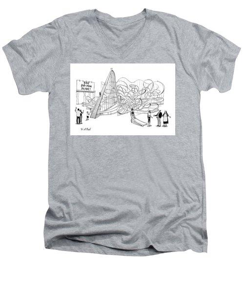 The 30-year Slide Men's V-Neck T-Shirt