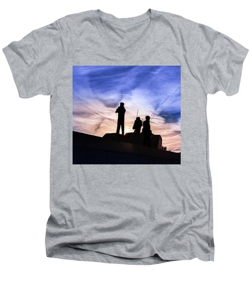 The Canadian Peacekeepers Men's V-Neck T-Shirt