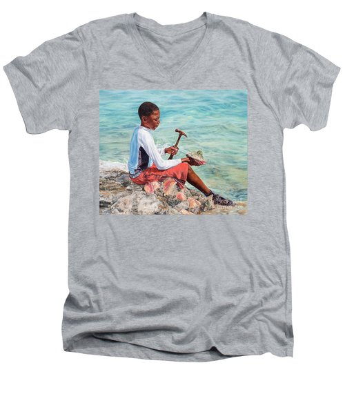 The Conch Boy Men's V-Neck T-Shirt