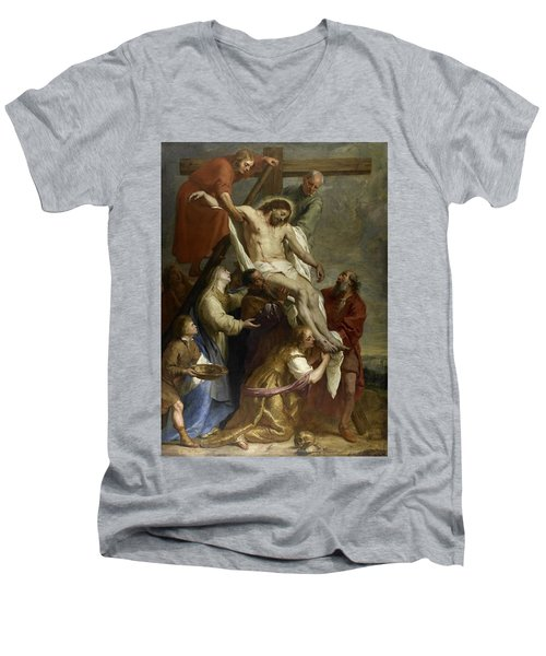 The Descent From The Cross Men's V-Neck T-Shirt
