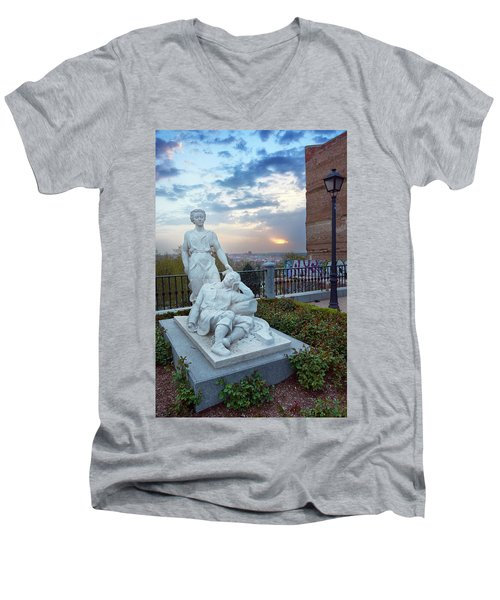 Men's V-Neck T-Shirt featuring the photograph The Dream Of San Isidro by Eduardo Jose Accorinti