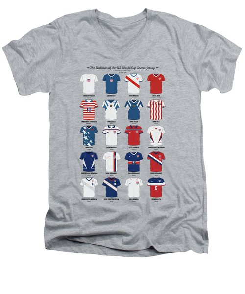 The Evolution Of The Us World Cup Soccer Jersey Men's V-Neck T-Shirt