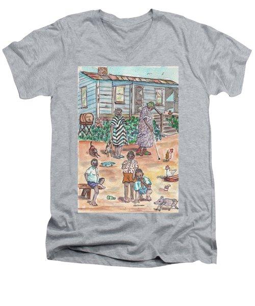The Family On Magnolia Road Men's V-Neck T-Shirt