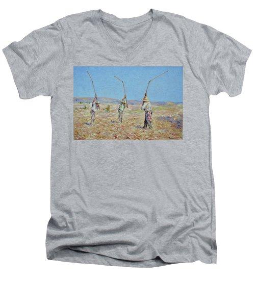 The Haymakers - Pierre Van Dijk 70x90cm Oil Men's V-Neck T-Shirt