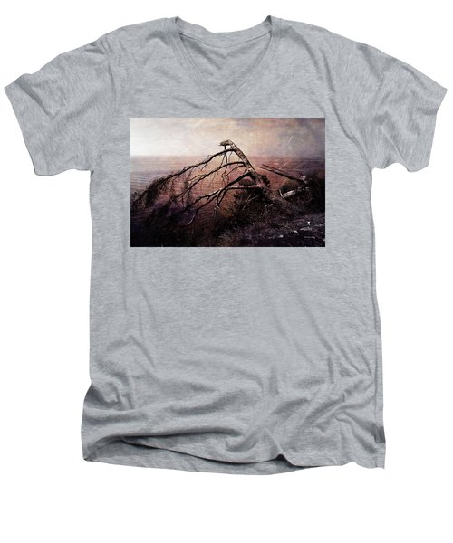 Men's V-Neck T-Shirt featuring the photograph The Invisible Force by Randi Grace Nilsberg