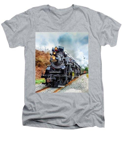 The Iron Horse  Men's V-Neck T-Shirt