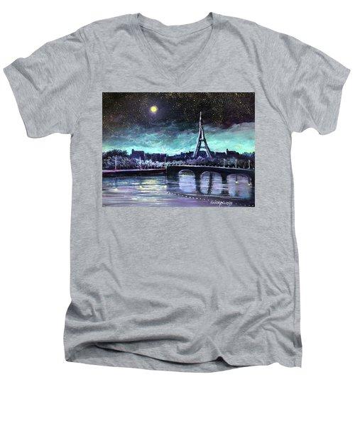The Lights Of Paris Men's V-Neck T-Shirt