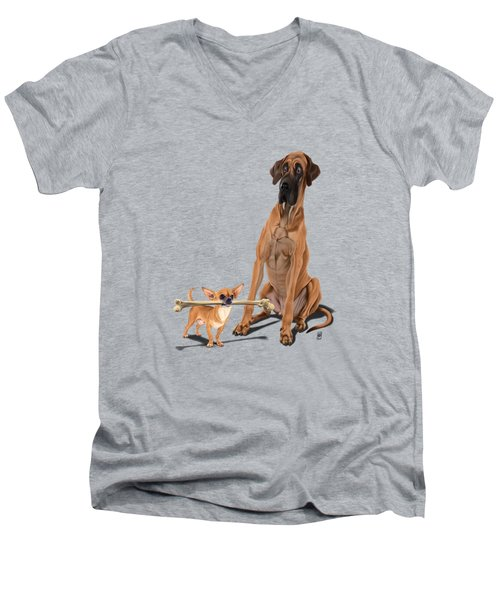 The Long And The Short And The Tall Colour Men's V-Neck T-Shirt