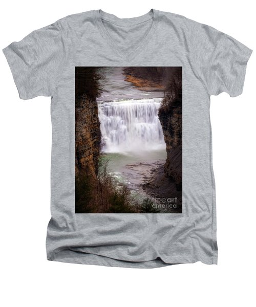 The Middle Falls Men's V-Neck T-Shirt