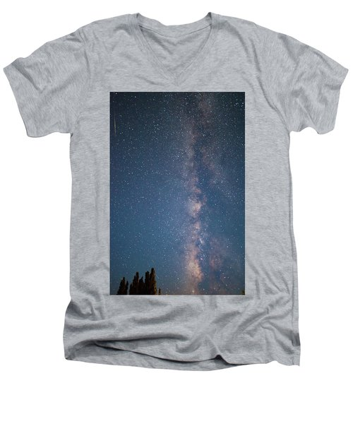 The Milky Way In Arizona Men's V-Neck T-Shirt