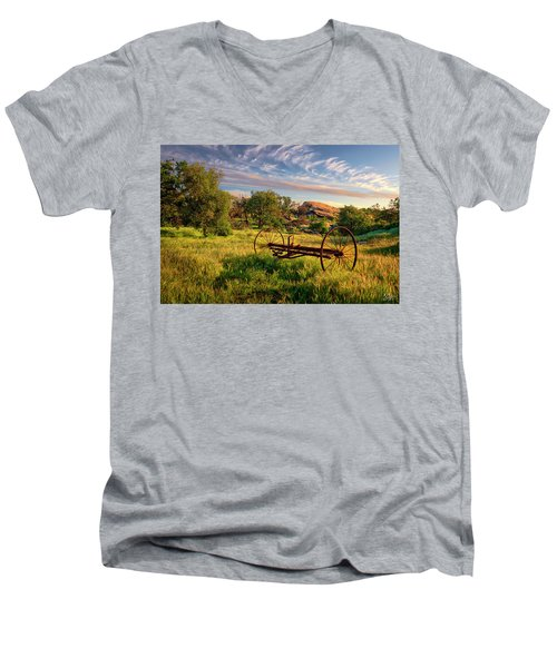 The Old Hay Rake Men's V-Neck T-Shirt