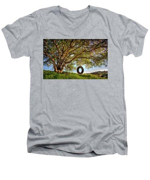 The Old Tire Swing Men's V-Neck T-Shirt